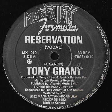 Tony Grant (Jeancy) - Reservation