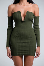 Ribbed Off-Shoulder Mini Dress