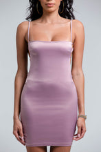 Satin Mini Dress - Mauve