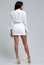 Wrap-Front Mini Skirt