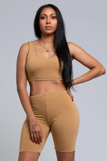Two Piece Basic Set - Camel