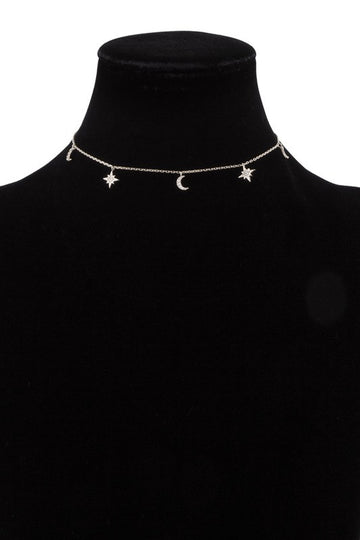24k White Gold Dipped Galaxy Choker