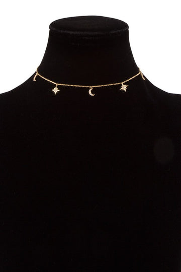 14k Gold Dipped Galaxy Choker