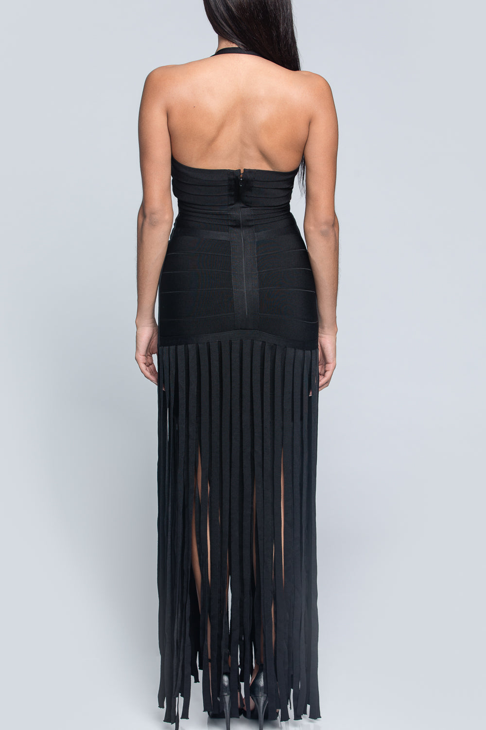 Bandage Fringe Maxi Dress