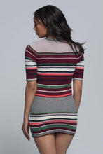 Striped Mini Sweater Dress - Petite