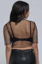 Sheer Rhinestone Crop Top