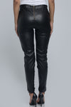 Lace Up Faux Leather Pants