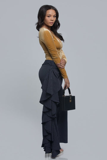 Flare Pinstripe Trousers