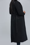 cute winter coat on sale, long black coat, belted coat