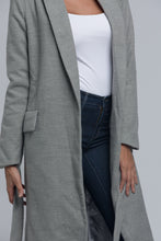 Belted Long Coat - Gray