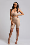 2 piece set, nude two piece set, two piece set, bandage two piece set, biker shorts