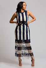 Crochet Fringe Maxi Dress