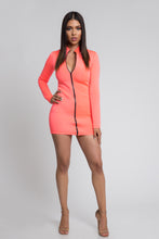Bodycon Scuba Dress - Neon