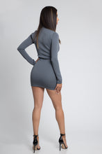 Bodycon Scuba Dress - Gray