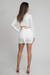 white two piece set, long sleeve two piece set, two piece set