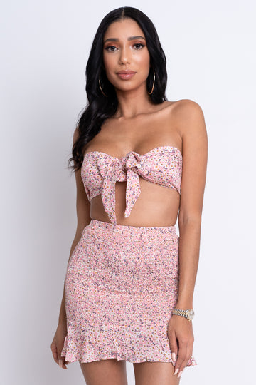 Floral Two Piece Set - Pink