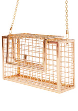 Gold Caged Clutch