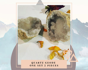 Calcite Geode - One Set 2 Pieces
