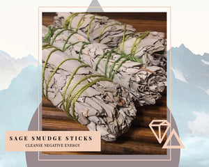 Small White Sage Smudge Stick (Set of 3)
