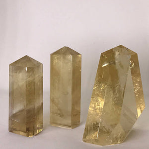 Standing Polished Honey Calcite - Grade A Quality!