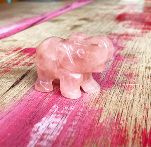 Rose Quartz Mini Elephant