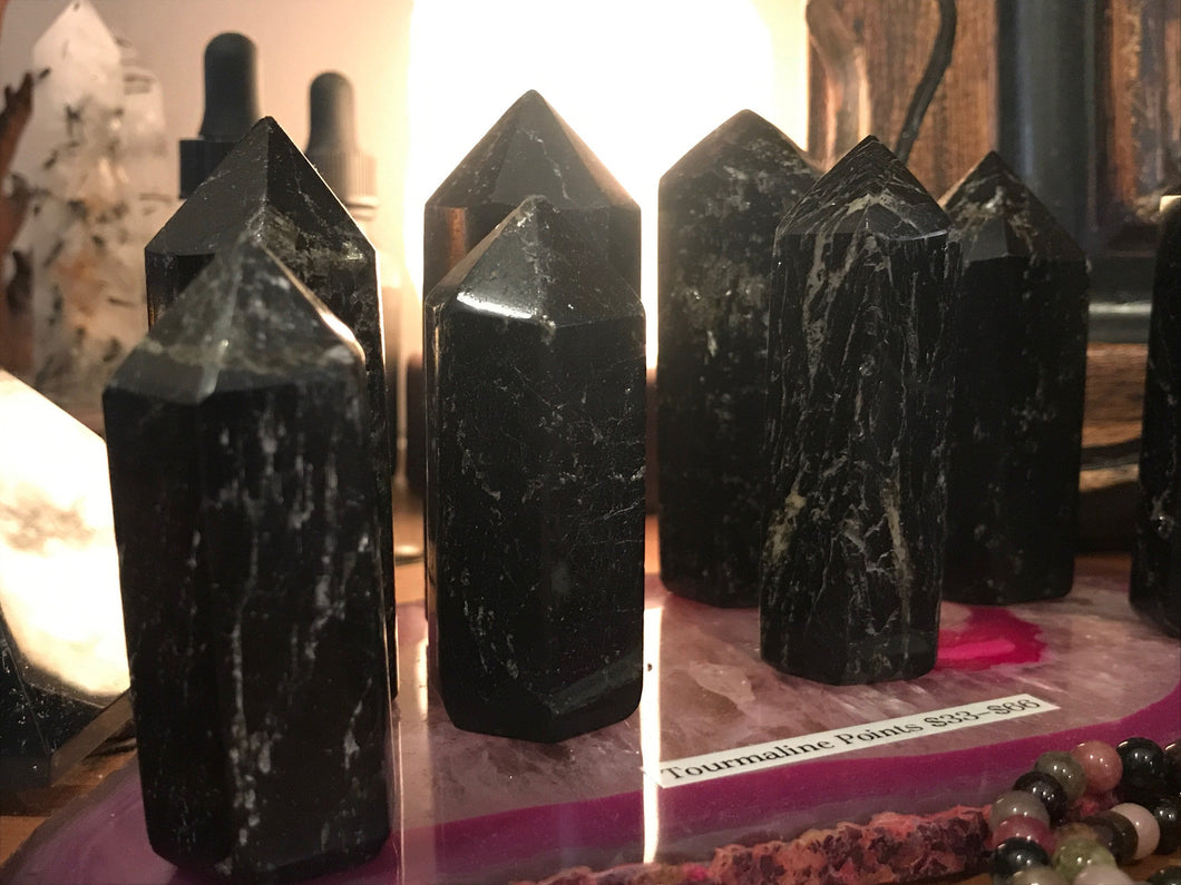 Black Tourmaline Standing Point
