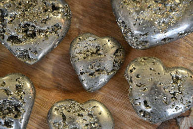 Pyrite (Fool's Gold) Heart