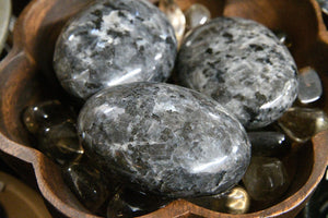 Larvikite (Norwegian Moonstone) Palm Stone