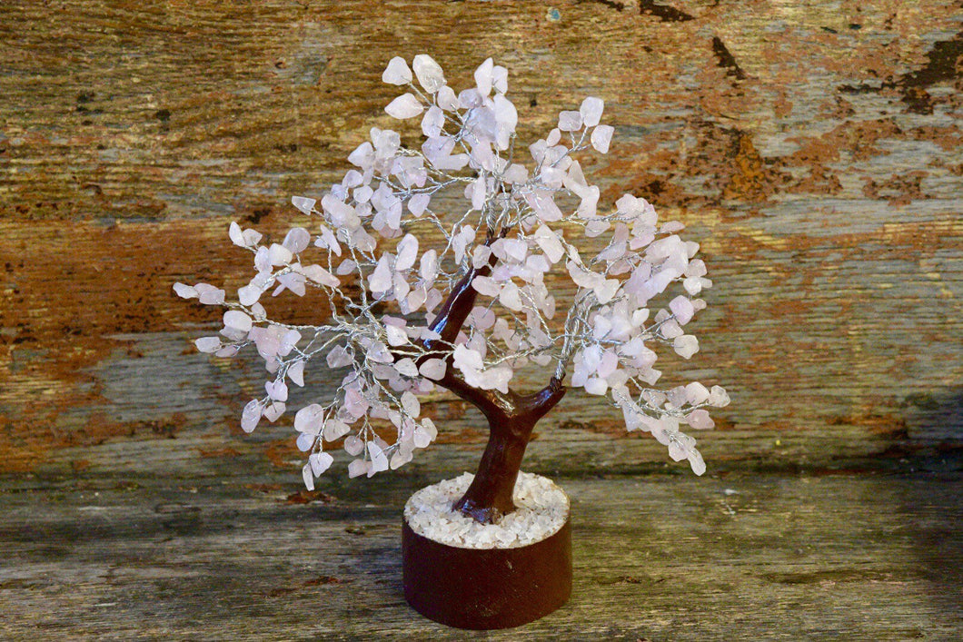 Rose Quartz Crystal Tree - 300 beads