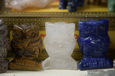 Owl Crystal Carving (1