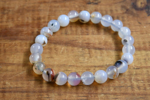 Dendritic Agate Bracelet (8mm)