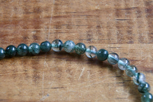 Green Rutilated Quartz Bracelet (4mm)