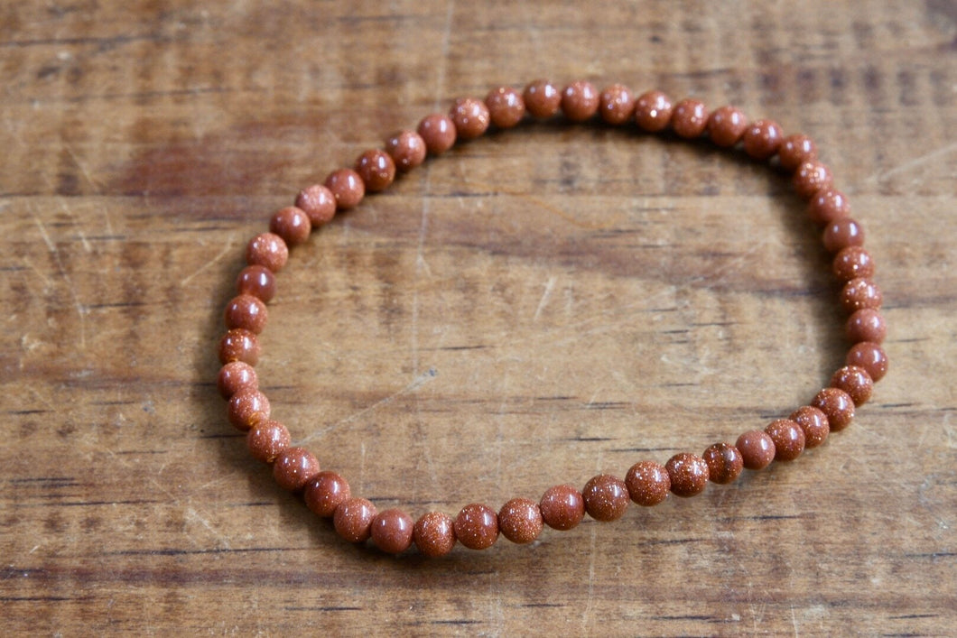 Red Goldstone Bracelet (4mm)