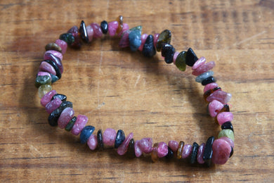 Rainbow Tourmaline (Chip) Bracelet