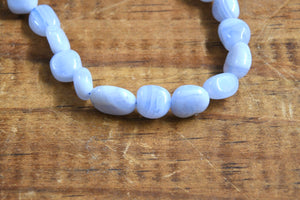 Blue Lace Agate (Pebble) Bracelet