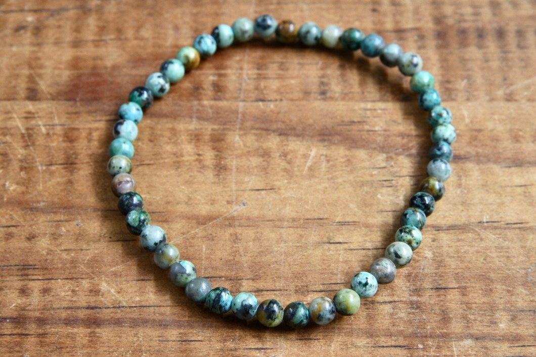 African Turquoise Bracelet (4mm)