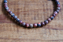 Red Leopard Skin Jasper Bracelet (4mm)