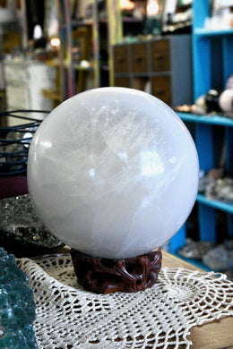 "LARGE Selenite Sphere (6"")"