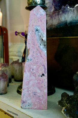 LARGE Rhodonite Obelisk