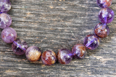 Super 7/Sacred 7 Phantom Amethyst Cacoxenite Bracelet (10mm)