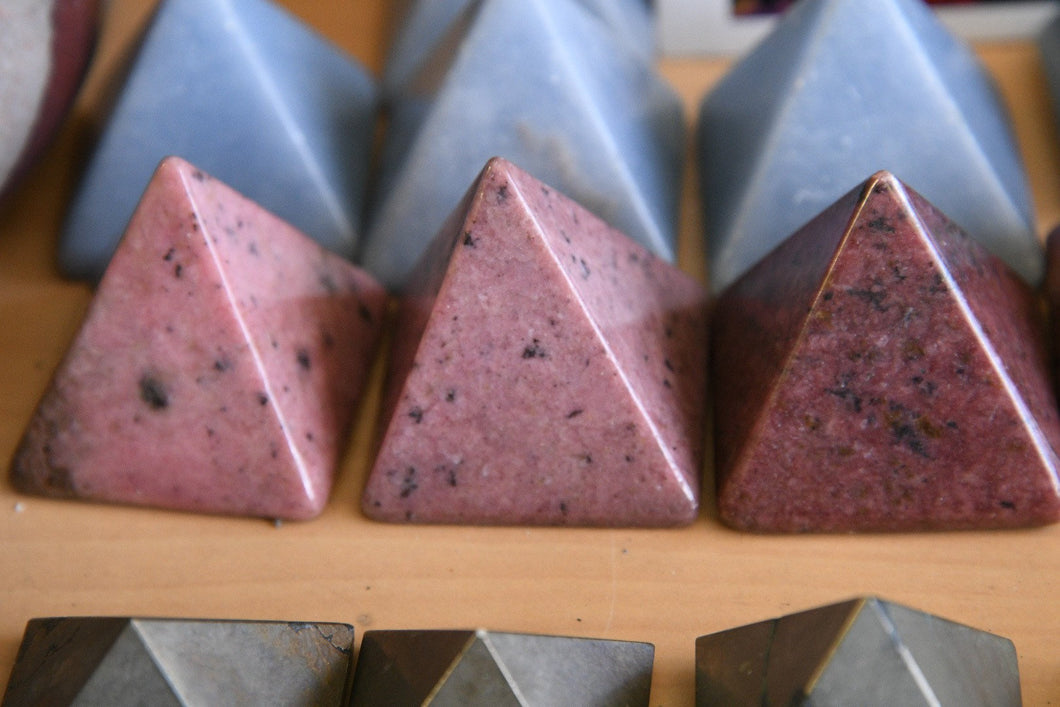 Mini Rhodonite Pyramid