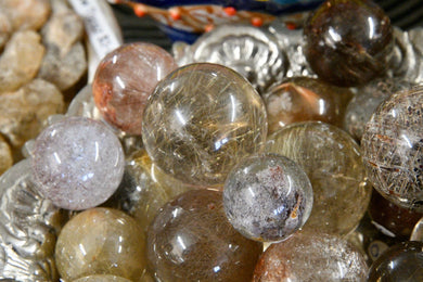 Rutilated Quartz Sphere