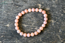 Peach Coral Calcite Bracelet (8mm)