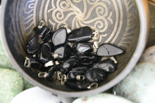 Black Tourmaline Polished Chip Necklace Pendant