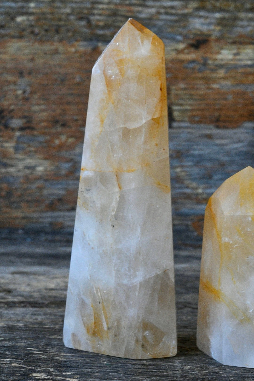 Tangerine Golden Healer Quartz Standing Point