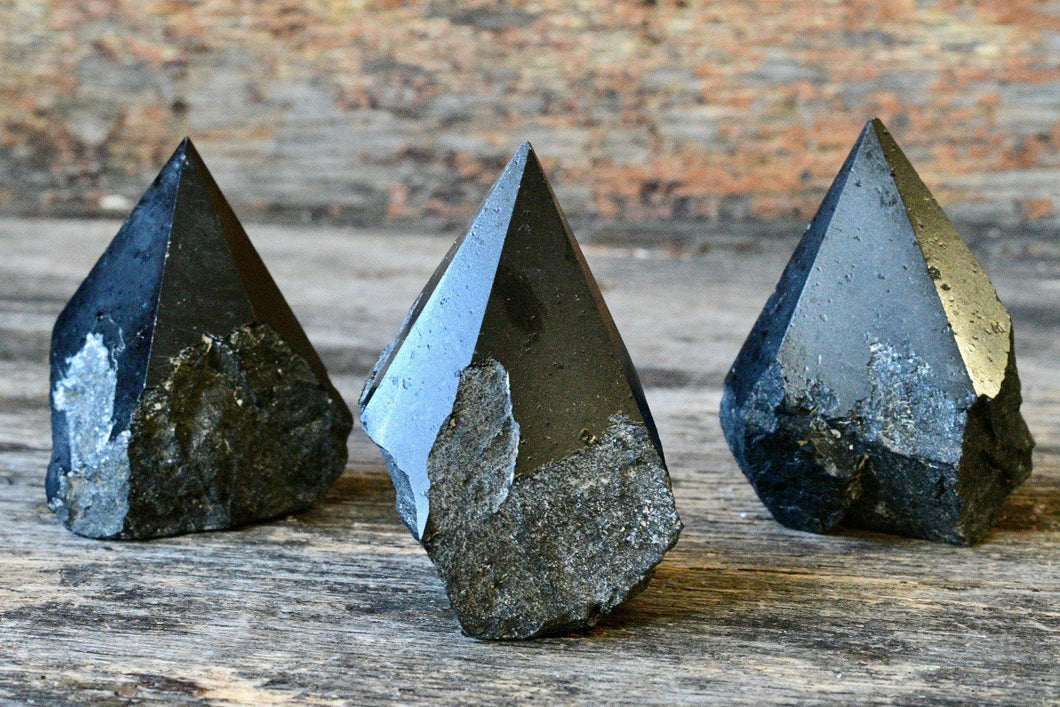 Black Tourmaline Raw Standing Point