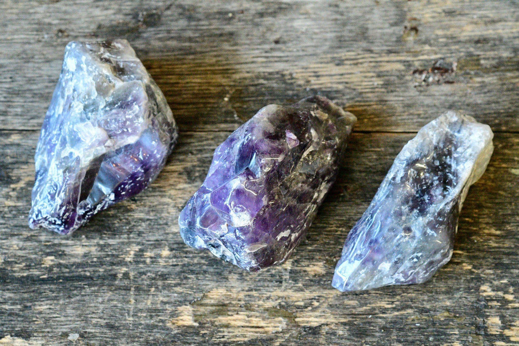 Chevron Amethyst Lightly Polished (Raw)