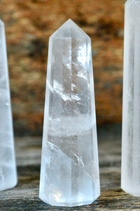 "Clear Quartz Obelisk (4"")"