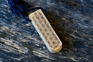 Palo Santo Flower of Life Necklace