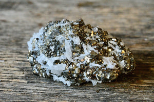 Galena + Pyrite in Quartz Matrix Cluster (45 g)